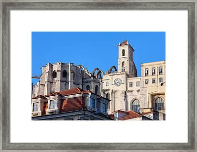 Igreja Do Carmo Ruins In Lisbon Framed Print by Artur Bogacki