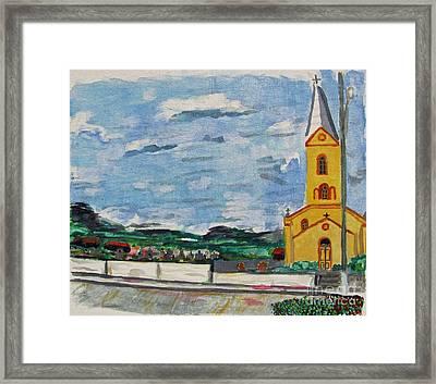Igreja Do Cerro Branco Framed Print by Greg Mason Burns