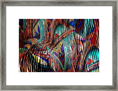 Iguana In The Rough Framed Print by Robert Maestas