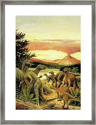 Iguanodon Dinosaurs Framed Print