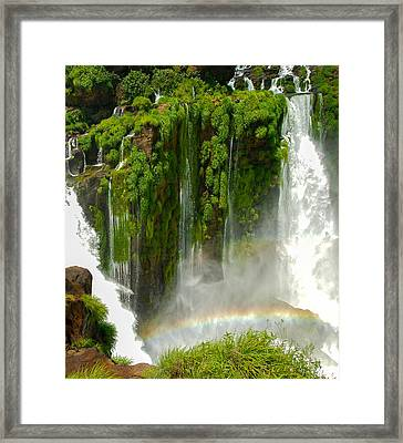 Framed Print featuring the photograph Iguazu Falls By Mike-hope by Michael Hope