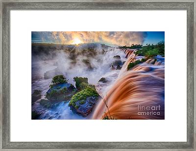 Iguazu Sunrise Framed Print