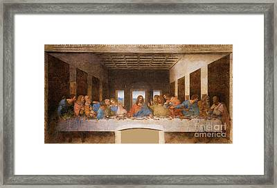 II Cenacolo Framed Print by Pg Reproductions