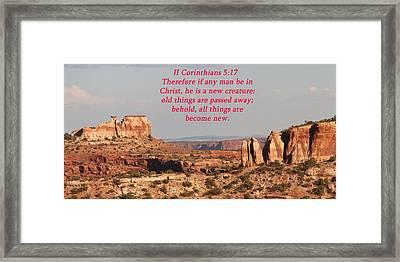 II Corinthians5-17 Canyonlands Np  Framed Print