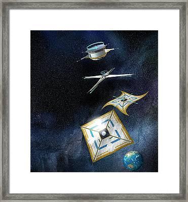 Ikaros Solar Sail Framed Print