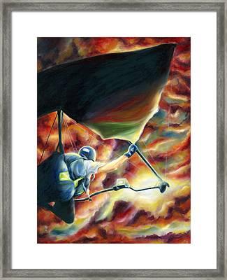 Ikaros's Wings Framed Print