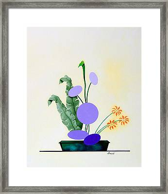 Ikebana #2 Green Pot Framed Print by Thomas Gronowski