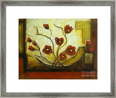 Ikebana Iv Framed Print