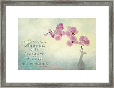 Ikebana With Message Framed Print