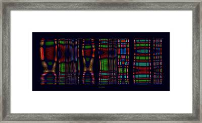 Ikkat Framed Print by Mary Machare