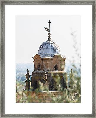 The Bell Tower Of Sant'agostino - Pietrasanta Framed Print