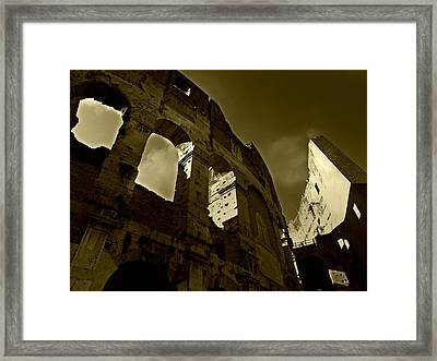 Il Colosseo Framed Print by Micki Findlay