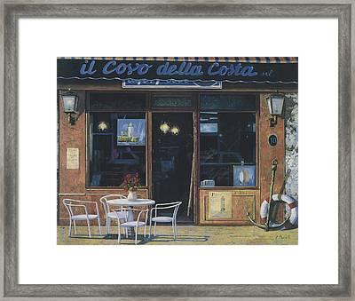 Il Covo Della Costa Framed Print by Guido Borelli