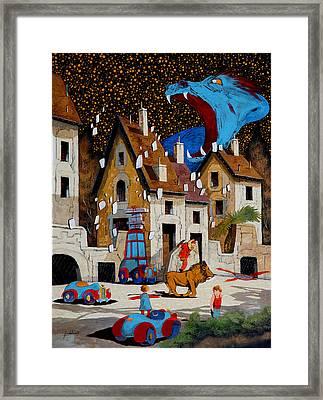 Il Drago Framed Print by Guido Borelli