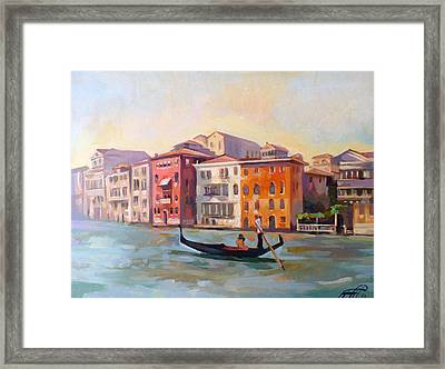 Il Gondoliere Framed Print