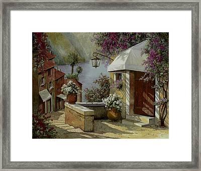 Il Lampione Oltre La Tenda Framed Print