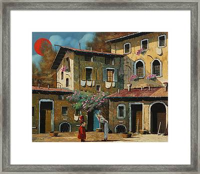 Il Notaio E Il Marinaio Framed Print by Guido Borelli
