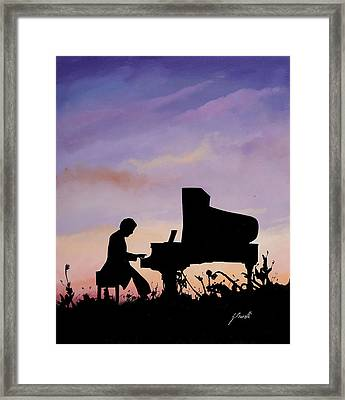 Il Pianista Framed Print by Guido Borelli