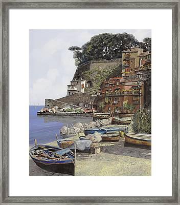 il porto di Sorrento Framed Print