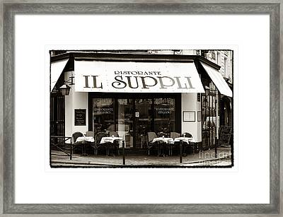 Il Suppli Framed Print by John Rizzuto