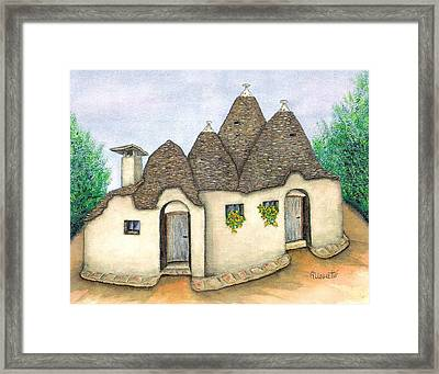 Il Trullo Alberobello Framed Print by Pamela Allegretto