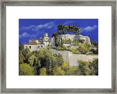 Il Villaggio In Blu Framed Print