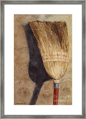 Ila Jean's Broom Framed Print by Monte Toon