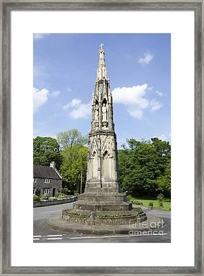 Ilam Cross Framed Print by Steev Stamford