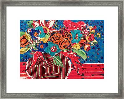 Ilana's Flower Arangement Framed Print by Diane Fine