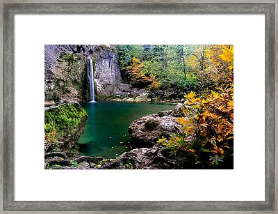 Framed Print featuring the photograph Ilica Waterfall - 2 by Okan YILMAZ