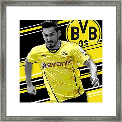 Ilkay Gundogan Borussia Dortmund Print Framed Print