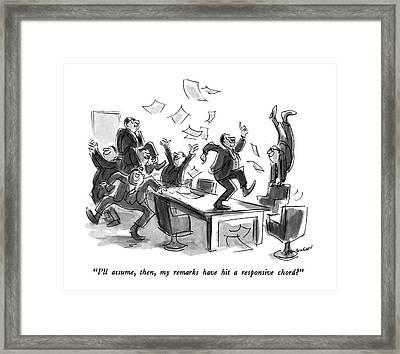 I'll Assume Framed Print by James Stevenson