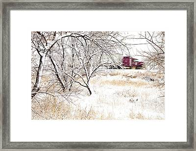 I'll Be Home For Christmas Framed Print by Theresa Tahara