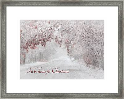 I'll Be Home Framed Print