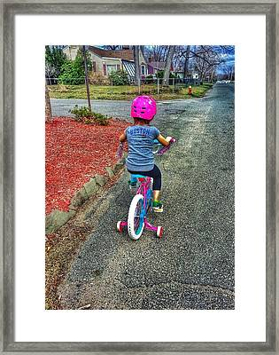 I'll Be Ok Daddy Framed Print by Erik Kaplan