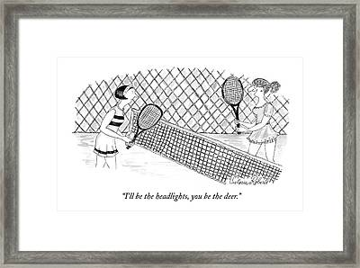 I'll Be The Headlights Framed Print by Victoria Roberts
