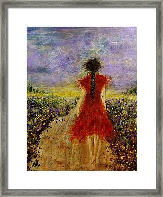 Framed Print featuring the painting I'll Be There... by Cristina Mihailescu