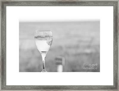 I'll Have A Glass Framed Print by Barbara Bardzik