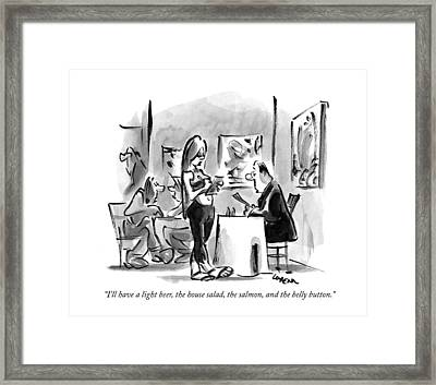 I'll Have A Light Beer Framed Print by Lee Lorenz