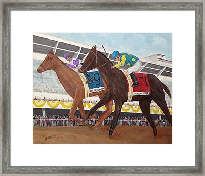 I'll Have Another Wins Preakness Framed Print by Glenn Stallings