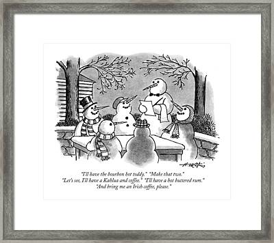 I'll Have The Bourbon Hot Toddy.  Make That Two Framed Print by Henry Martin