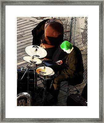 I'll Just Download That Drum App Framed Print by Steve Taylor