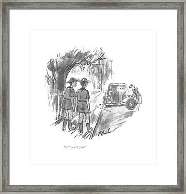 I'll Match You Framed Print by Perry Barlow