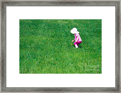 I'll Pick This Pretty Flower For You Framed Print