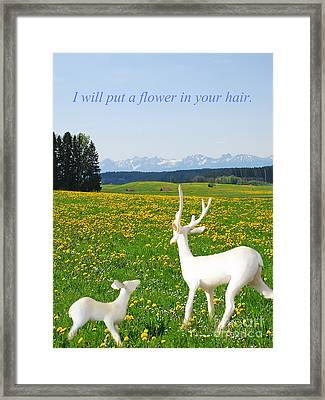 I'll Put A Flower Framed Print
