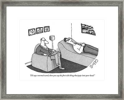 I'll Say A Normal Word Framed Print by J.C.  Duffy