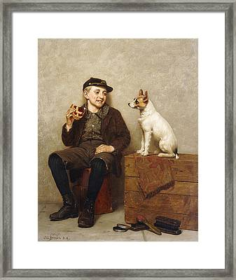 Ill Share With You Framed Print by John George Brown