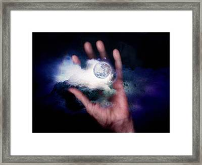 I'll Take Down The Moon For You Framed Print by Gun Legler