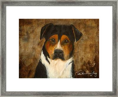 Framed Print featuring the painting I'll Wait For You by Barbie Batson