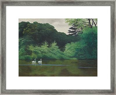 Ille Du Lac Saint James Framed Print by Felix Edouard Vallotton
